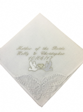 Personalised Handkerchief, wedding, brides mother gift.